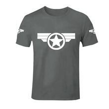 Captain America Printed T-shirts Crossfit