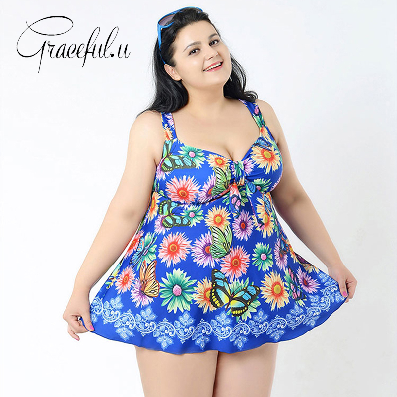 2017 Floral Monokini One Piece Swimsuit With Skirt Plus Size Swimwear Bathing Suit Brazilian Swimming Wear Bottom зебра унты