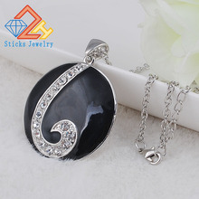 (1 pieces/lot) 100% Alloy enamel pendant necklace Factory direct, free shipping стоимость
