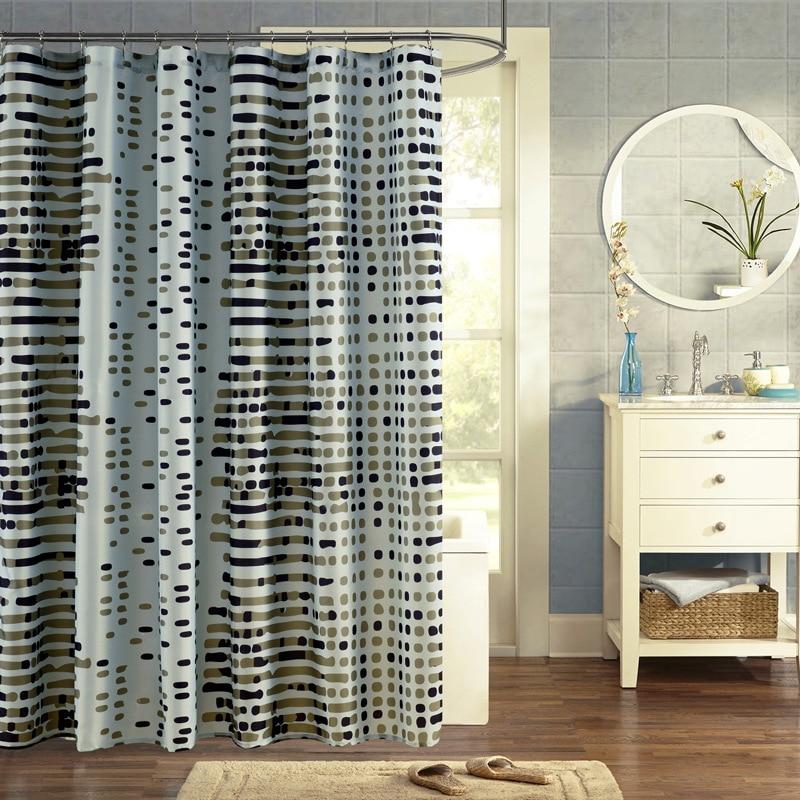 New Waterproof high quality Fabric Retro geometric Shower Curtain ...