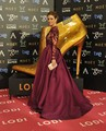 Purple Long Sleeve Celebrity Dresses 2016 NEW Top See Through With Appliques Special Occasion Formal Party Dresses For Wedding