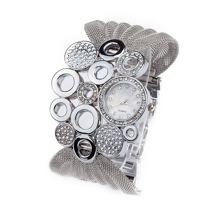2016 New Lady Diamond bracelet watch women ladies fas
