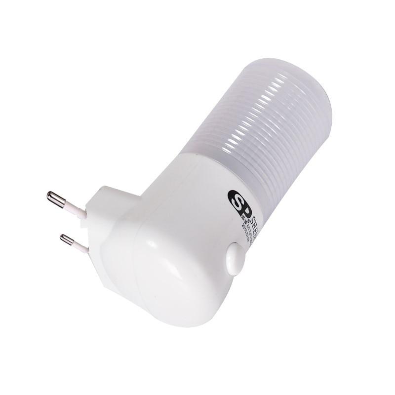 Image 3 - SXZM 1W Night Lamp 6 LED Night Light Bedside Lamp Wall Socket Lamp EU/US Plug AC 110 220V Home Decoration Light for baby gift-in LED Night Lights from Lights & Lighting