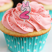 Girl And Boy Pink Number 2 Candle Cake Ages Party Kids Birthday Decoration Colorful Supplies