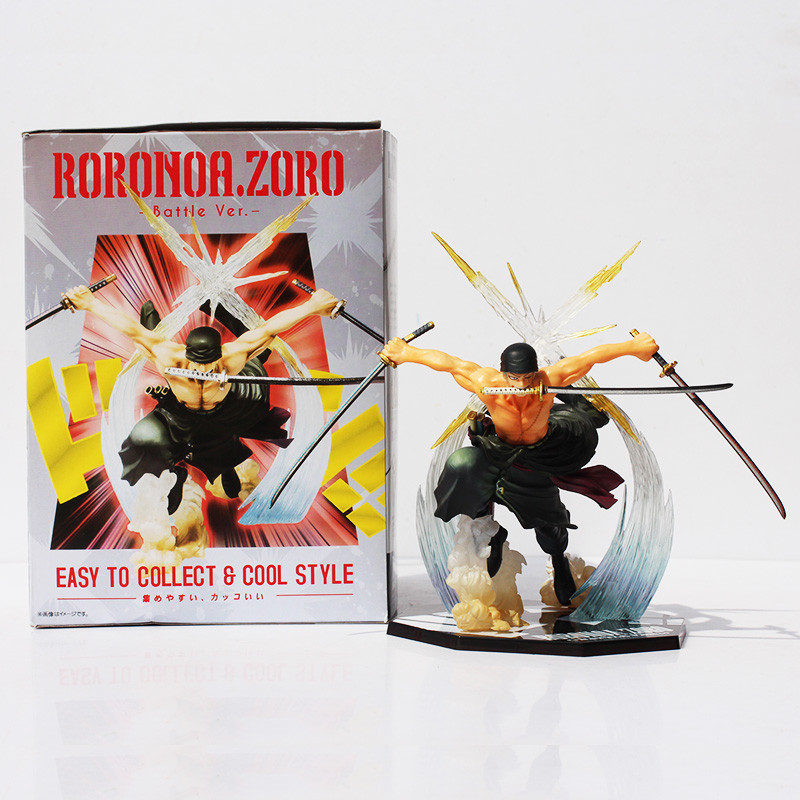 17CM Japan Anime One Piece POP Roronoa Zoro Banpresto Action Figure Toys Modle Collection Colossum New in Box  kunai pet