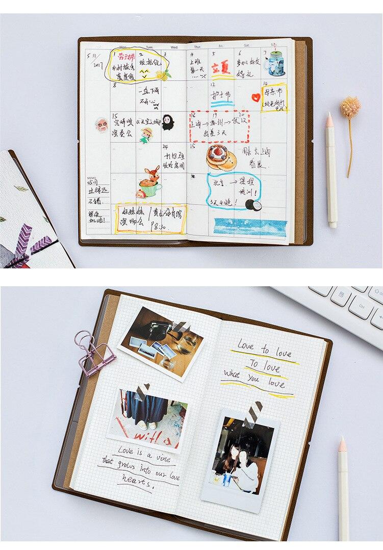 agenda bolso bloco de notas planejador livro