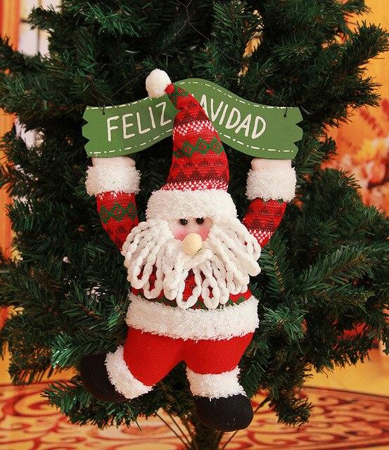 Lindo De Navidad de Santa Claus Decoración Puerta Adornos Para Árboles de Navidad Cuelgan Año Nuevo Colgante Decoraciones Feliz Navidad