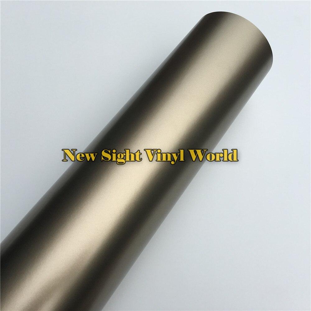 Film moulé de qualité supérieure en Satin Champagne or mat Chrome feuille d'enveloppe de vinyle Film de protection pour voiture sans bulles d'air