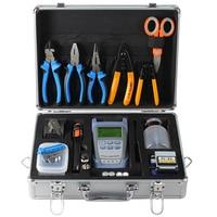 Fiber Optic splicer fusion Tool Kit FC 6S Fiber Cleaver and Optical Power Meter 10km Visual Fault Locator toolbox
