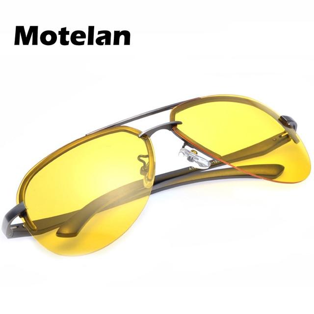 6bd1c98eeb Yellow Lens New Pilot Sunglasses Men Night Driving Glasses Man Polarized  Sunglasses UV400 Protection Night Vision