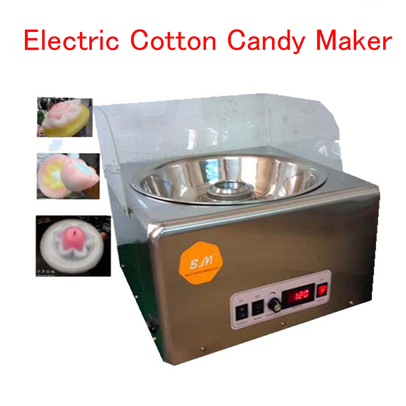 Electric Cotton Candy Maker Cotton Candy Floss Machine Stainless Steel Sugar Cotton Candy Machine Commercial Floss machine xeoleo commercial electric cotton candy machine fancy cotton candy maker electric candy floss machine