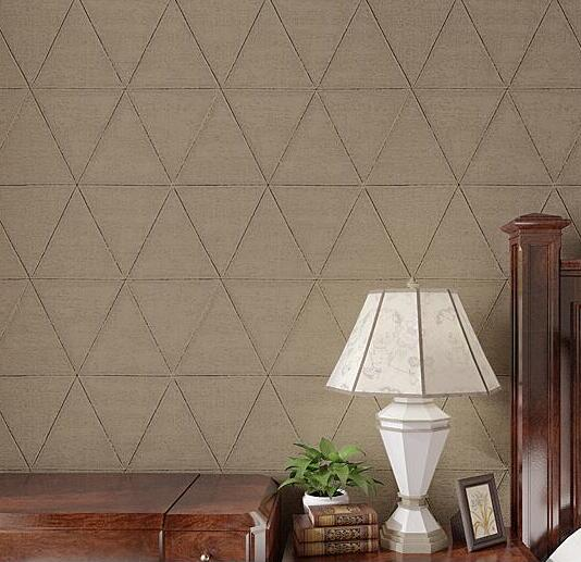 Luxury Modern Creative Triangle Solid Color Textured Wallpaper For Walls Decor Brand 3D Roll Papel De Parede