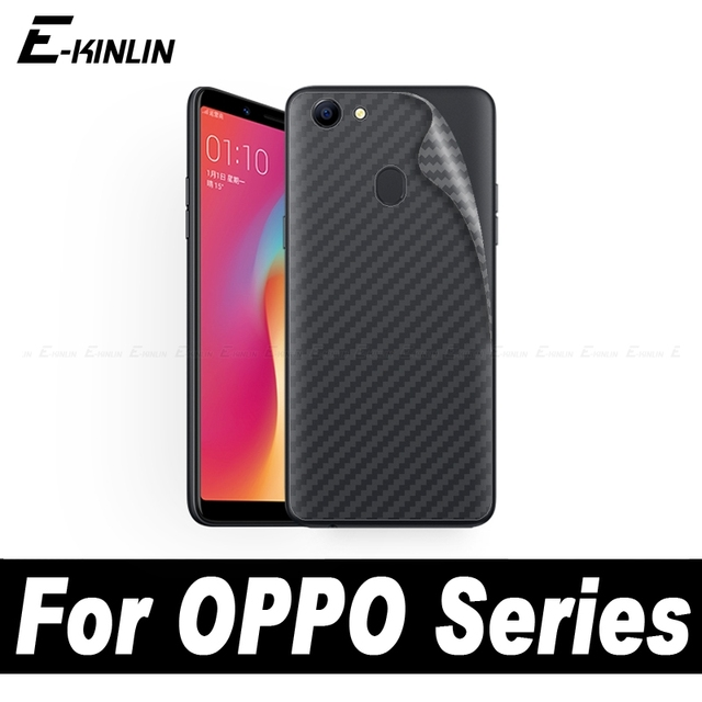 newest fdad5 ac2e9 US $0.91 |3D Carbon Fiber Back Cover Protective Film For OPPO A5 A3s A3 A1  F3 F1 Plus NEO 9 F1s Rear Screen Protector Sticker No Glass-in Phone Screen  ...