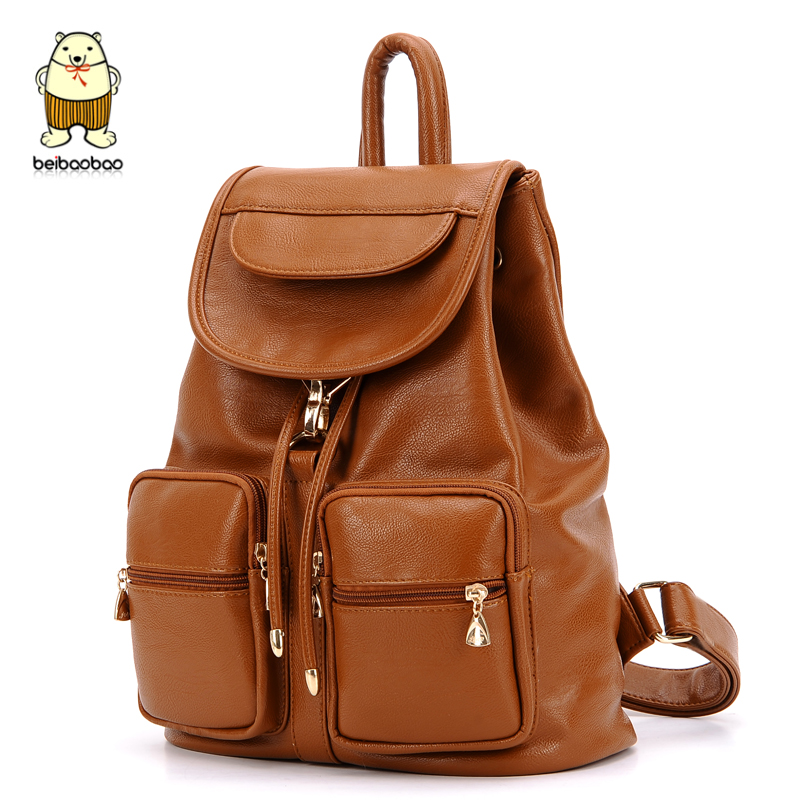 Back Pack Kpop Brand Pu Leather Backpack Women High Quality School Backpacks Drawstring Bag Fashion Travel Casual Shoulder Bags In From Luggage