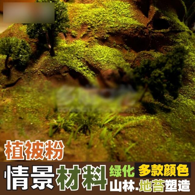 Bricolage sable table bâtiment homme champ paysage plate-forme forme modèle matériel mousse lichen