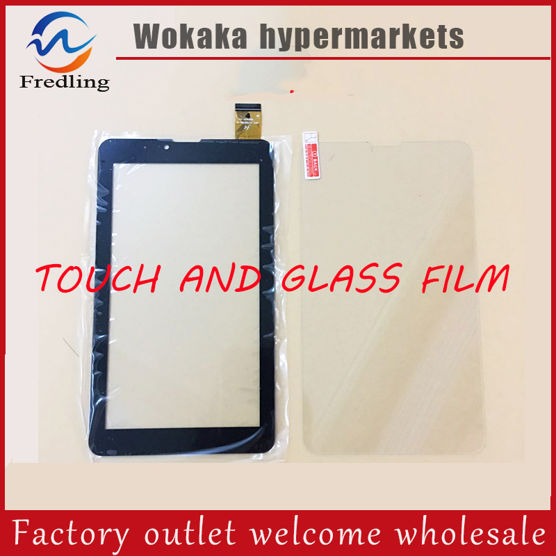 Tempered Glass Screen Protect Film+New Touch Screen For 7 TESLA IMPULSE 7.0 QUAD A772i Tablet Touch Panel Digitizer Sensor gp2500 tc110 touch glass touch screen panel new protect flim