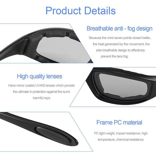 Nova motocicleta óculos de proteção à prova de vento dustproof óculos de olho ciclismo óculos de proteção esportes ao ar livre óculos quentes 6