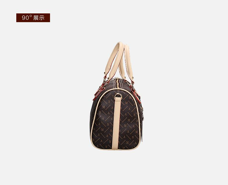 8e71628b5f96 Free shipping Classic Women Shopping Bag Speedy Fashion Brand Canvas  Handbags Shoulder real leather Bagsa-in Top-Handle Bags from Luggage   Bags  on ...