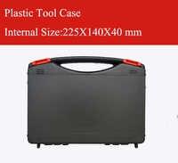 Cassa di Attrezzo di plastica valigia casella degli strumenti di sicurezza resistente Agli Urti caso attrezzature casella Strumento equipme con pre-cut foam
