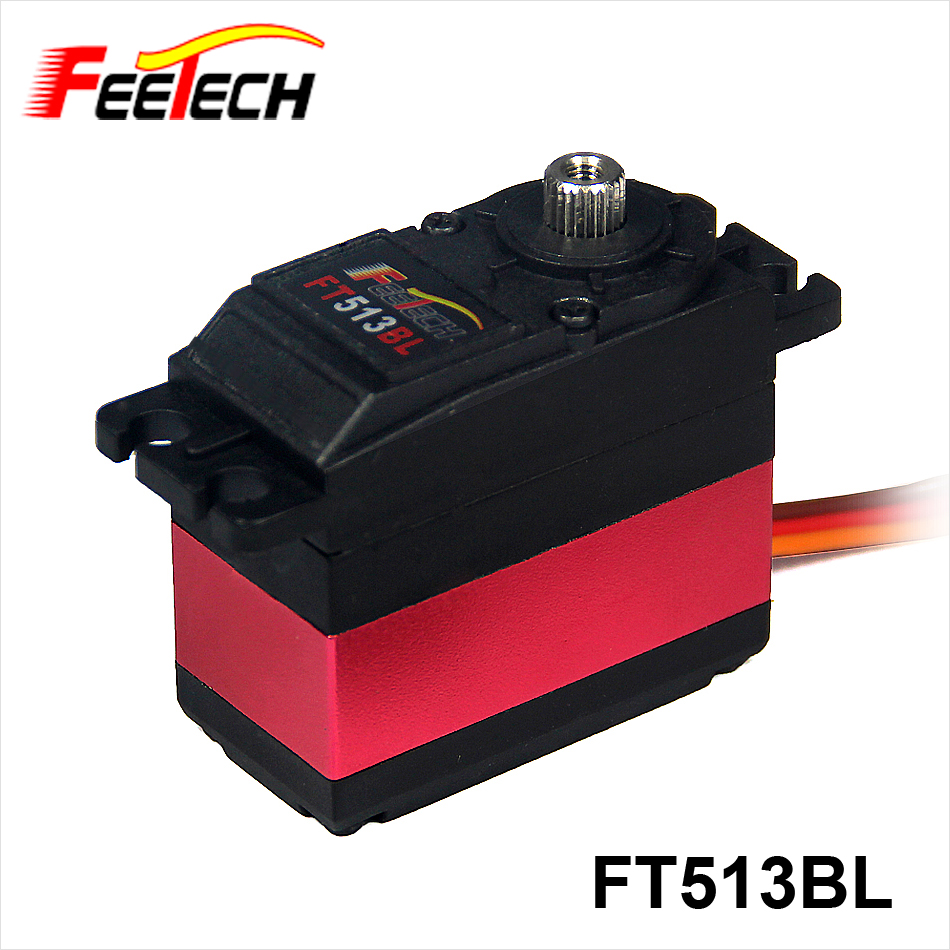 Standard 12kg.cm Metal Gear Digital Brushless Servo FT513BL FEETECH Servo for RC Boat Car 1x free shipment original factory high torque servo 15kg ds3115 servo metal gear digital standard servo for rc car boat plane