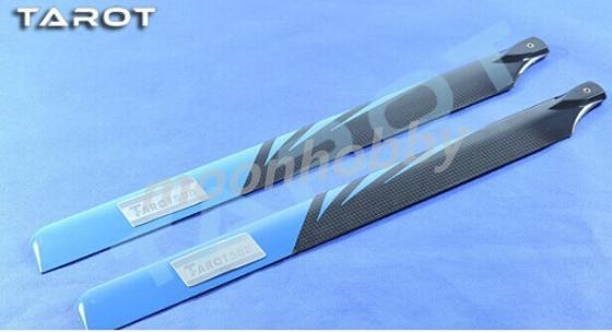 Tarot 500 Main Rotor Blade TL50070-07 Fiber Carbon Blue Black shipping with tracking tarot 500 parts 430mm carbin fiber blade tl50070 04 tarot 500 parts free shipping with tracking