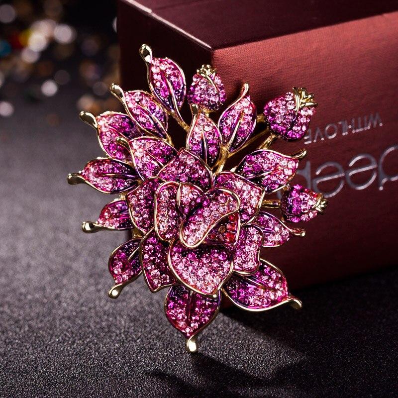 Luxury boutique brooch female