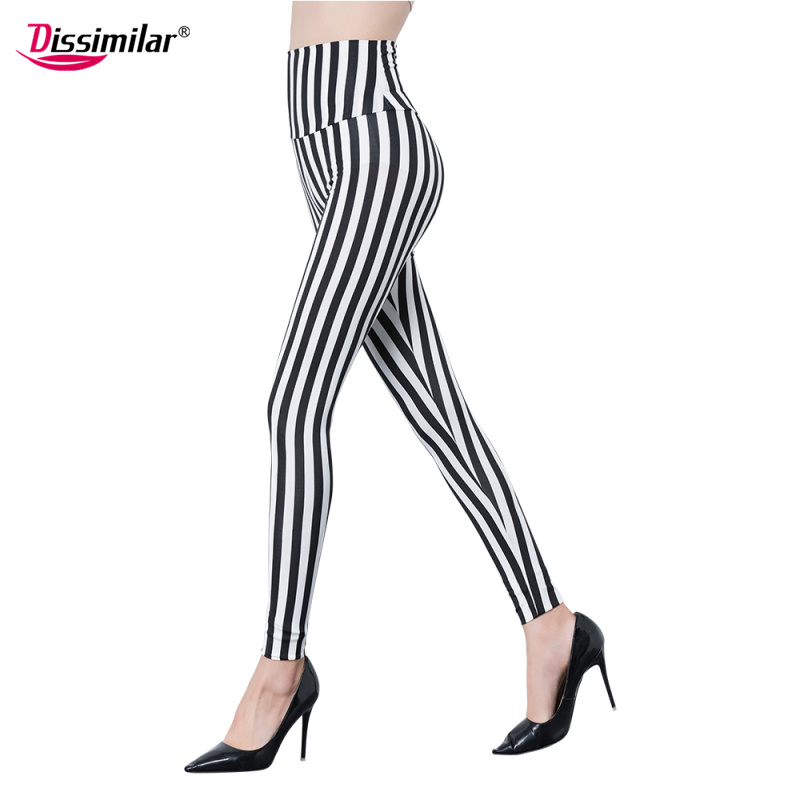 Free Shipping Lady High-waist Vertical Striped Leggings Stretchy Elastic Cross Leggings Houndstooth Pants XS/S/M/L/XL