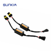 1 Pair Car LED Headlight Fog Lamp Bulb Decoder Canbus Resistor Wire Harness Adapter 9005 9006