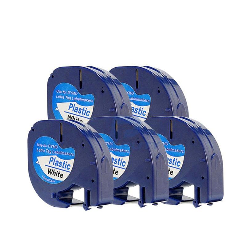 40 pcs WHITE Plastic LetraTag 91331 Label Tape 91201 91221 Compatible Dymo LT 100 12mm