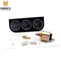 CNSPPED 52mm Triplo Elétrica Kit Medidor de Medidor De Temperatura Da Água + Óleo de imprensa + Sensor De Temperatura Voltímetro Carro Medidor de Auto metro