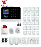 Yobang Security Touch Keypad Wireless SMS WIFI Home GSM Alarm System Smoke Detector Motion Sensor Magnetic Door Alarm Kits