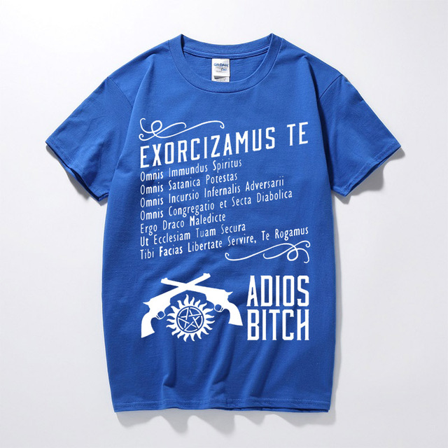 Supernatural Exorcism Adios Bitch 100% Cotton T Shirts