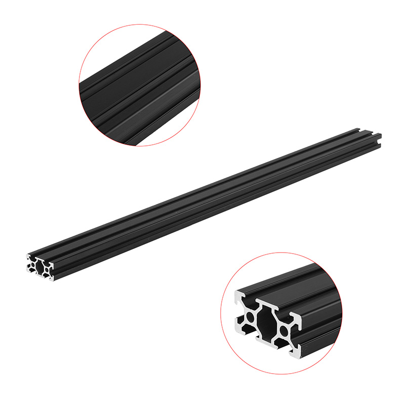 600mm Length Black Anodized 2040 T-Slot Aluminum Profiles Extrusion Frame For CNC Brackets 3D Printer Lasers Stands DIY 4040 length 300mm t slot aluminum profiles extrusion frame for cnc 3d printer lasers stands furniture durable