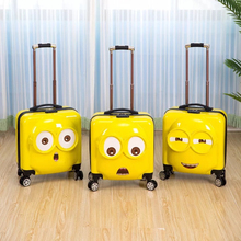 Boarding-Box Case Luggage Rolling-Suitcase Travel Trolley Anime Little-Yellow Child Girl