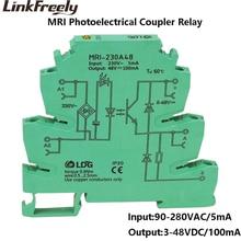 MRI-230A48 10pcs High Quality LED Interface Voltage Relay Module Input 90-280V AC  Opticalcoupler Isolating PLC  DIN Rail Relay цена 2017
