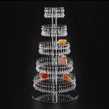 Hoogwaardige acryl display stand Taart stand Parfum stand Acryl Kralen 4 5 6 7 Layer Wedding Cake Stand