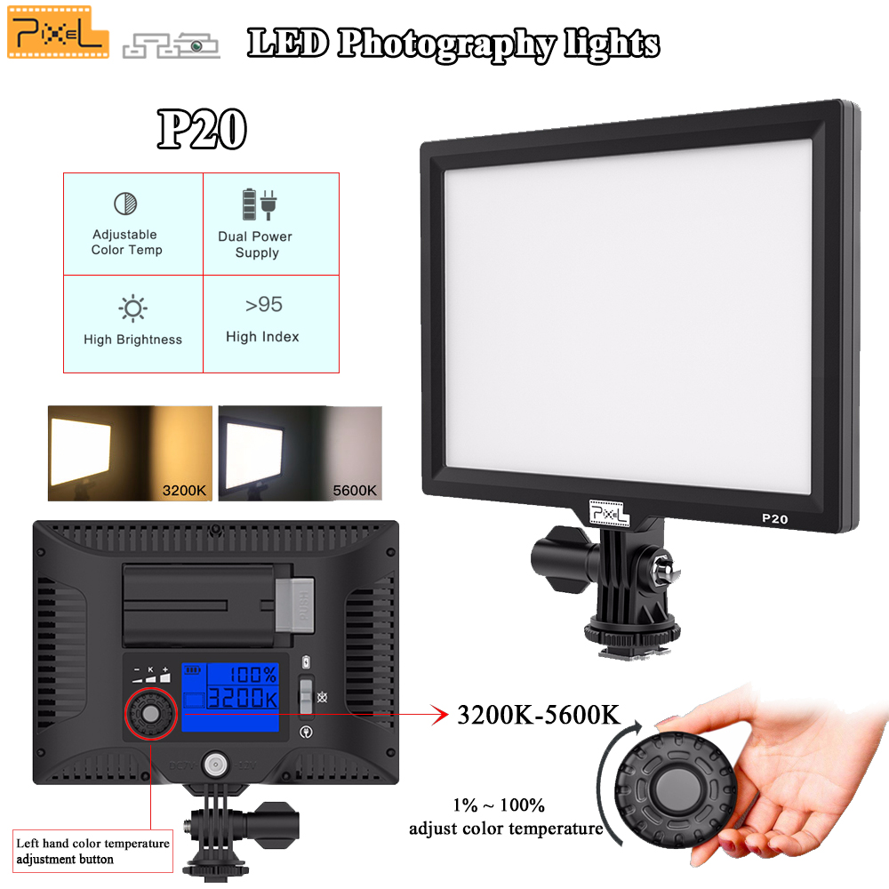 LED-uri lumini de fotografiat Pixe P20 SLR camera video video Studio - Camera și fotografia - Fotografie 1