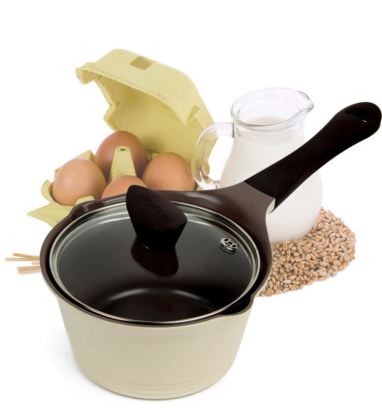 18 см Керамика горшок молока суп не липкий горшок использования в газовая плита индукционная Плита Алюминий сплав 2-3 люди используют 18x18x9.5 см