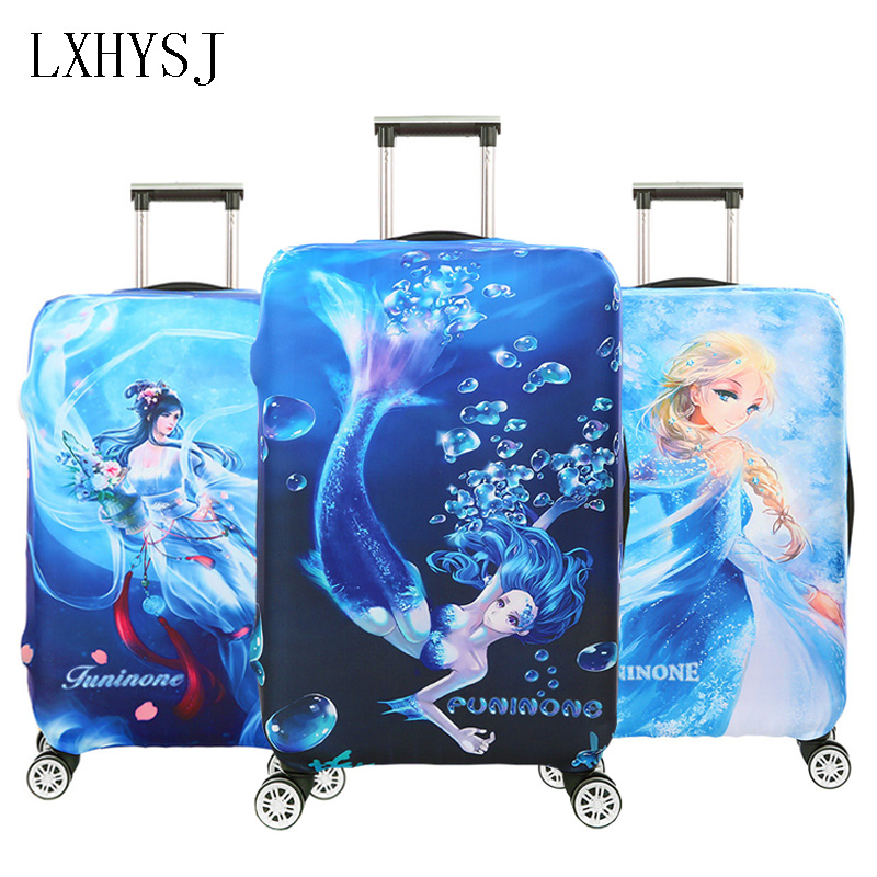 Elasticity Mermaid Pattern Luggage Protective Covers Luggage Cover Suitable For 18-32 Inches Suitcase Case Travel Accessories