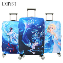 LXHYSJ Mermaid pattern Travel Suitcase Luggage Cover Suitable for 18-32 inches Suitcase dust cover