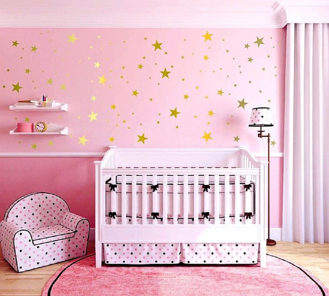 g173 set of 175 assorted star metallic gold wall decals stars wall