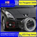 3in1 Супер Белые СВЕТОДИОДНЫЕ Фары Дневного Света Для Peugeot 5008 Свет дрл Бар Парковка Автомобилей Противотуманные Фары 12 В DC Голову лампы