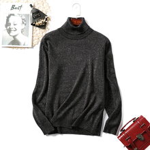 Turtleneck Sweater Woman Knitting Pullovers Shiny Lurex Women Slim Black Pink Bottoming Casual Jumper Tops Red Gray