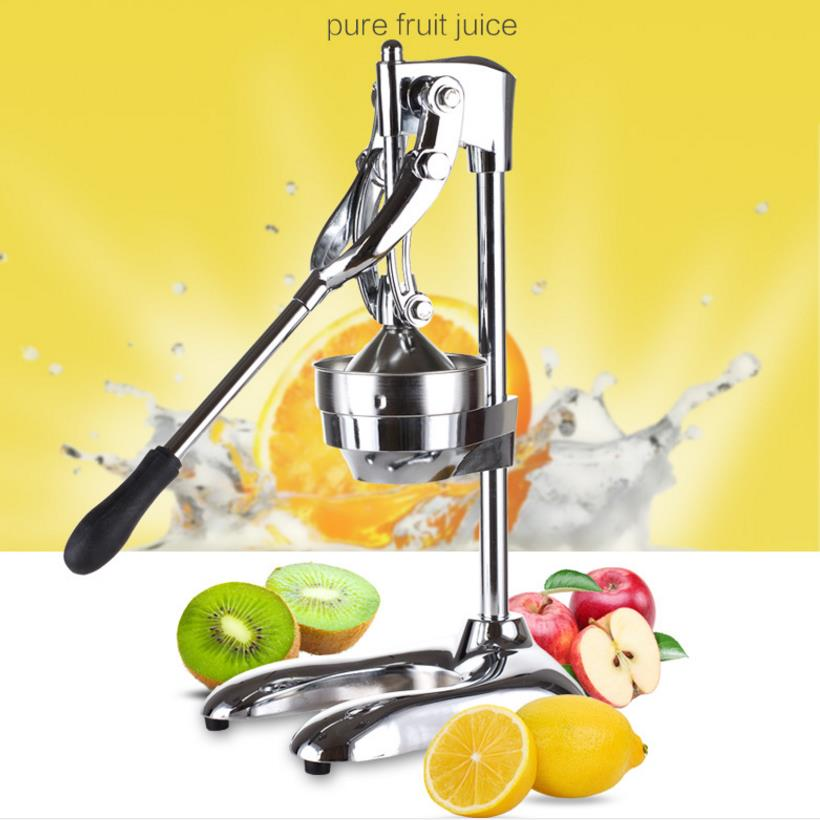 Manual Press Orange Juicers Citrus Fruit Lemon Juicer Juice Squeezer Kitchen Tool Stainless Steel Pressing Machine