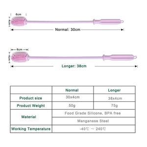 Image 4 - 식품 학년 실리콘 병 브러쉬 병 클리너 물 병 세척 브러쉬 아기 병에 대 한 좁은 목 컨테이너 세척