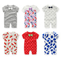 Baby Clothing 2016 Summer  Fashion Baby Girl Boy Clothes Cotton Baby Dress Short Sleeve Baby Romper Infant Product