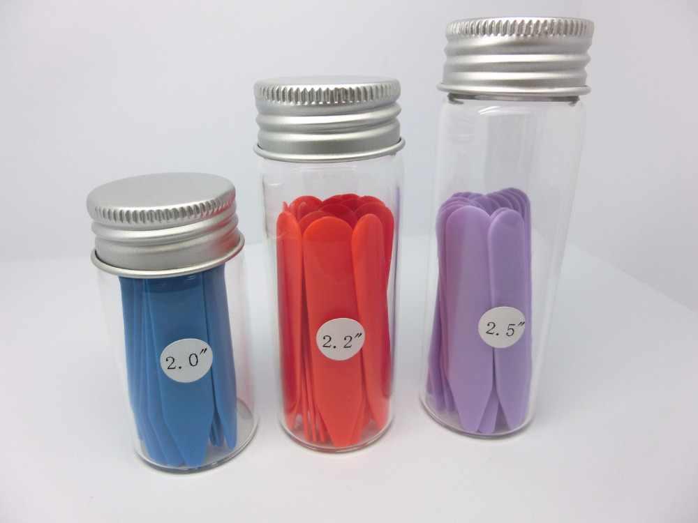"""SHANH ZUN Plastic Collar se mantiene rígido para camisas de vestir para hombre, 3 colores, 2 """"2,2"""" 2,5 """"en 3 botellas de vidrio"""