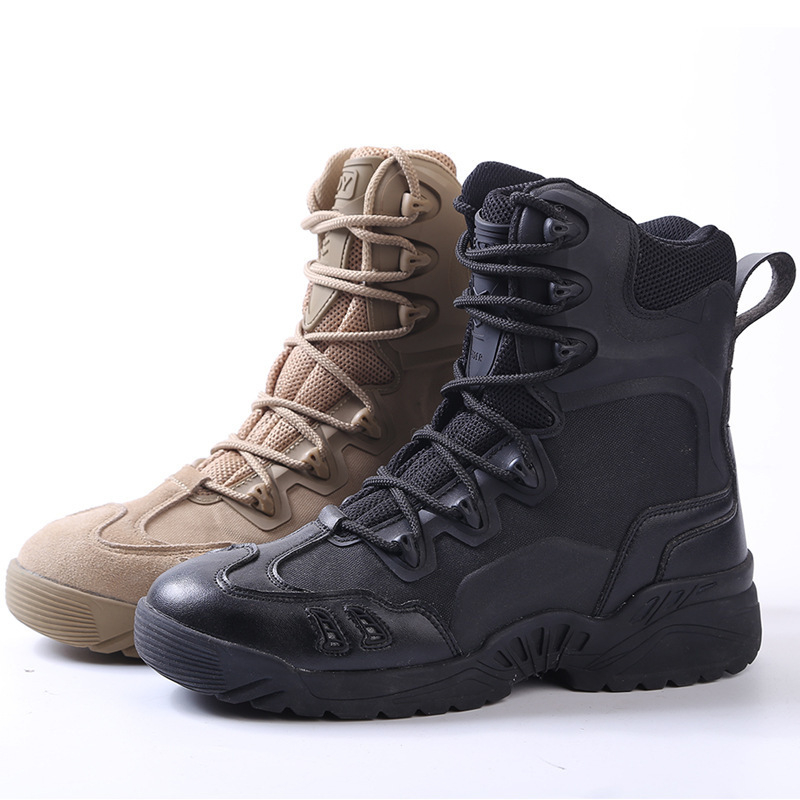 ESDY 2018 chaussures de randonnée en plein air hommes désert haut-haut militaire bottes tactiques hommes Combat armée bottes Militares Sapatos Masculino