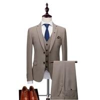 2018 смокинг жениха куртка мужской костюм хаки серый 3 предмета элегантный курить Mariage Для мужчин swear современный платье в деловом стиле Форма