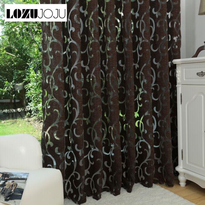 LOZUJOJU Luxe mode-stijl semi-verduisteringsgordijnen keukengordijnen - Thuis textiel
